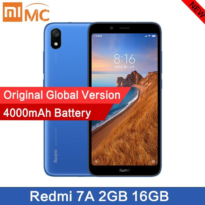 Original nuevo Xiaomi Redmi 7A Smartphone 5,45 Snapdargon 439 batería de 4000mAh 2GB 16G Octa Core 12MP versión Global envío rápido