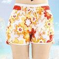 Новый 2015 Марка женская Мода носить Пляж Совета Шорты Большой Размер Для Женщин Синий Yollow Красный Оранжевый