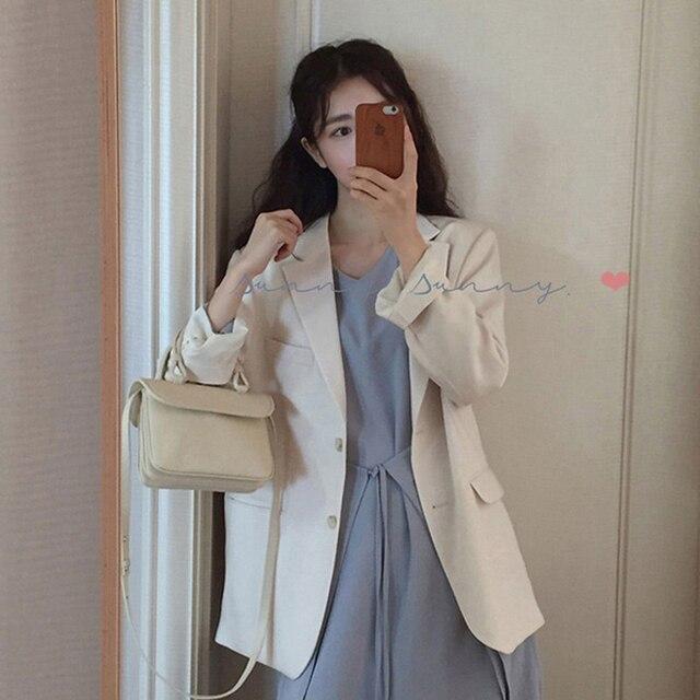 BGTEEVER однобортный женский пиджак и блейзер с карманами, Осенний OL костюм, пальто, элегантная верхняя одежда, Офисная Женская одежда 2018