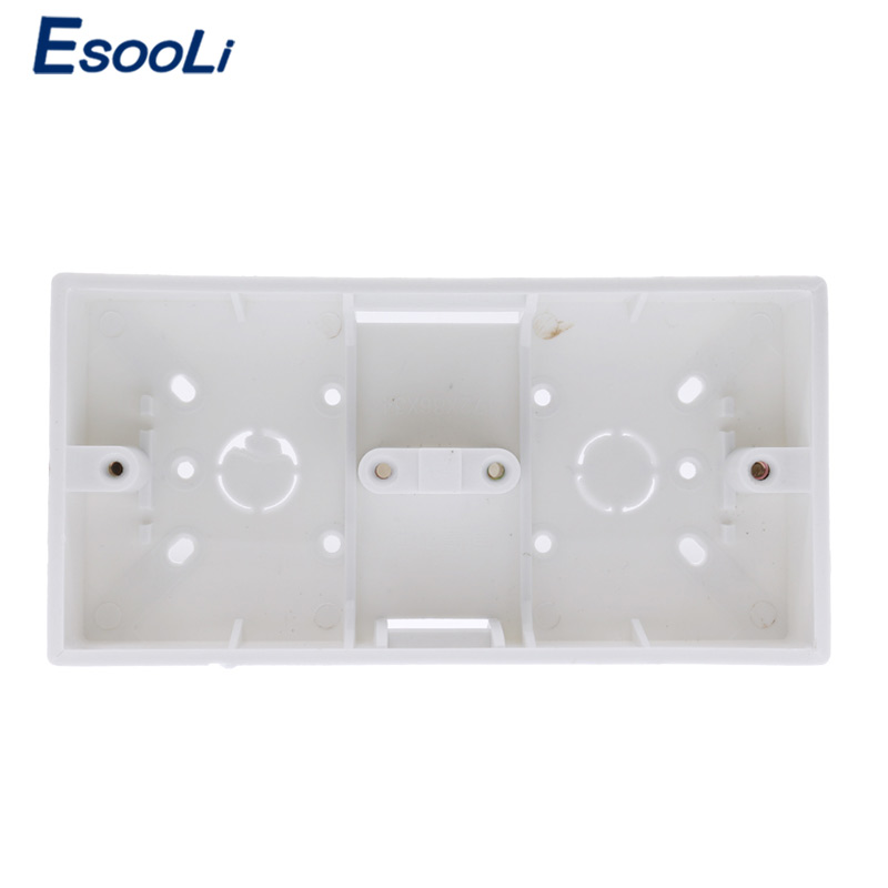 Esooli External Mount Box 172mm 86mm 33mm for 86 Type Double Touch Switches or Sockets Apply