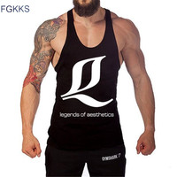 2017 New Brand Men S Tanks 95 Cotton Fashion Tank Tops Male Sleeveless Vests Casual Printed
