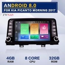 8 дюймов Android 9,0 ram 4 Гб ram 32 ГБ Автомобильный gps-навигатор dvd-плеер Авто Стерео головное устройство для KIA Picanto Morning 2017 2018