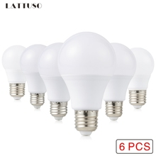 6Pcs LED Bulb E27 LED Lampada Ampoule Bombilla 3W 6W 9W 12W 15W 18W 20W LED Lamp Light 220V Cold/Warm White SMD2835 LED Lights