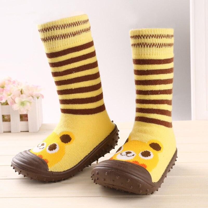 Anti Slip Kids Floor Socks Thick Warm Towel Cotton Baby Socks For Girls Boys Cartoon Cute Baby First Walker Rubber Sole Socks