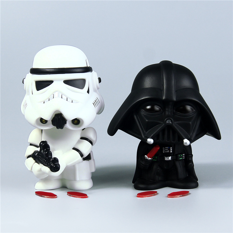 10Cm Star Wars Bobblehead Toy Master Yoda Darth Vader Stormtrooper Action Figure Bobblehead Toys Lightsaber Car ornamen 10cm nendoroid star wars toy the force awakens stormtrooper darth vader 501 502 pvc action figure star wars figure toys
