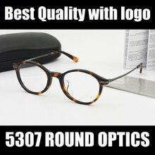 a79b5ba102b240 Gloednieuwe Ronde Vrouwen Brillen Frame 5307 Zwart Schildpad Opitcal Recept bril  Frames Mode brillen met case
