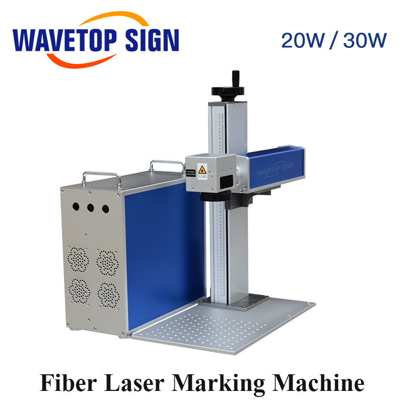 WaveTopSign 20W 30W Fiber Laser Mark Machine Body+Control Box+Lift Worktable+Laser Path+Aluminum Plate Base Can Use Max Laser
