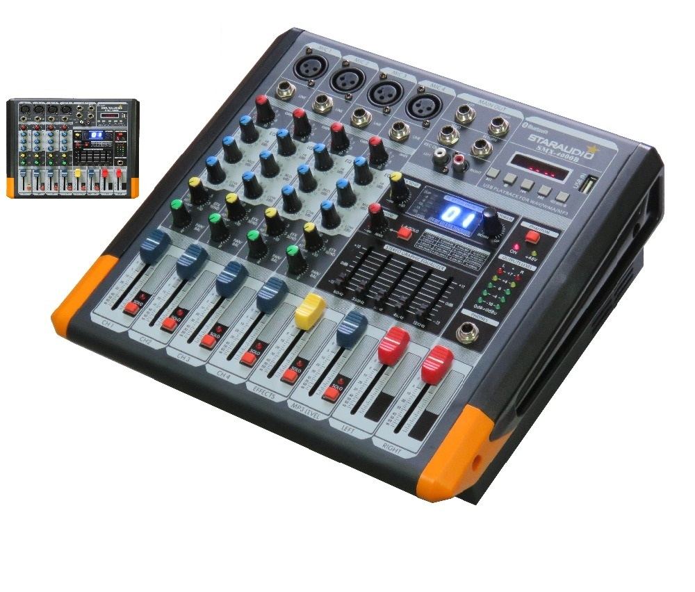 Staraudio amplifier audio power mixer 4 channel professional bluetooth mixer mixing console for - Professional mixing console ...