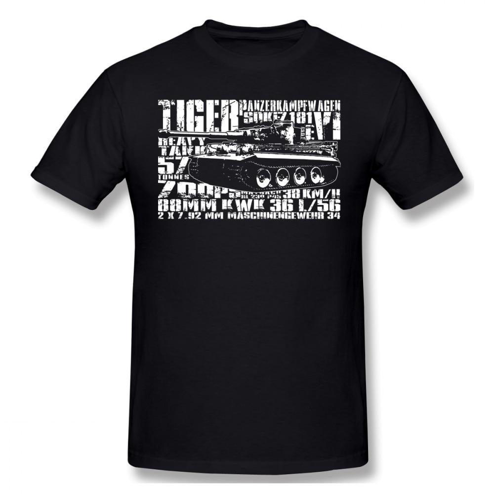 Wehrmacht T Shirt Tiger I T-Shirt Man Cute Tee Shirt Graphic Cotton Short Sleeve Fashion Oversize Tshirt