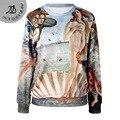The Birth of Venus 2016 Fashion Full Sleeve Print Moleton Hoodies Sweatshirt Hoodie Women Sportswear