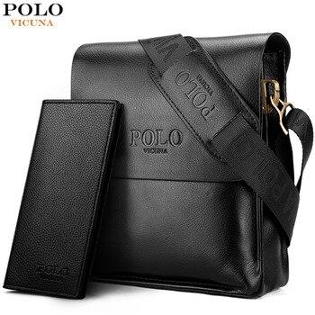 Викуньи поло известный бренд кожа Для мужчин сумка Повседневное Бизнес кожа Для мужчин s сумка Винтаж Для мужчин с плечевым ремнем bolsas мужск...
