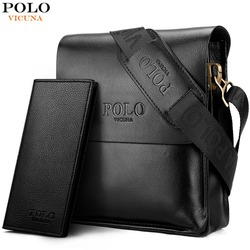 VICUNA POLO Famous Brand Leather Men Bag Casual Business Leather Mens Messenger Bag Vintage Men's Crossbody Bag bolsas male