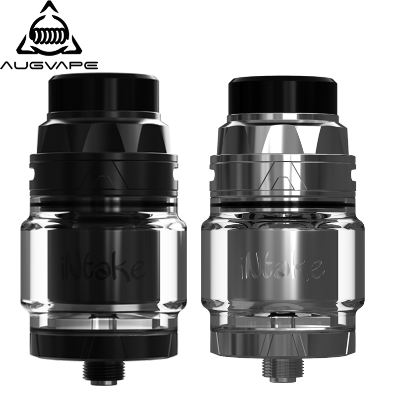 Augvape INTAKE RTA atomizer 4.2ml 24mm Leak Proof single coil bublle glass RESIN drip tip Super Easy To Build vape tank rta