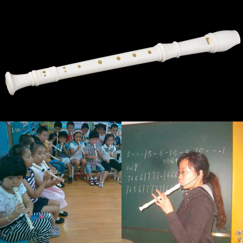 Белый пластмассовый инструмент, 6/9 отверстий, случайный корабль, музыкальный Сопрано-Регистратор Kaval, длинный портативный размер, раннее об...