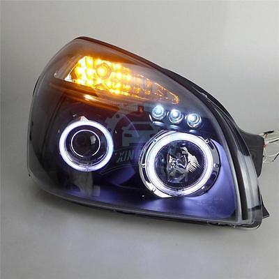 angel eyes led head lamp 2009 11 year tlz for hyundai sonata LED Angel Eyes LED Headlights Front Lamp Fit For Hyundai Tucson 2004-2008