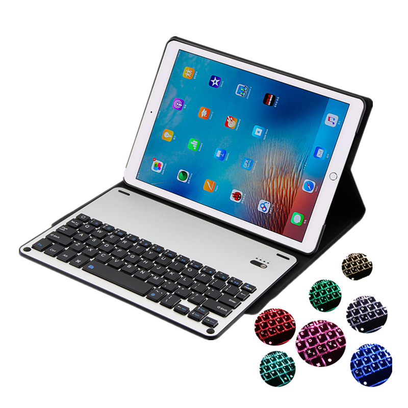 For iPad Pro 10.5 Tablet Keyboard Backlight Case Cover Detachable Bluetooth Keyboard for iPad Pro 10.5 Folio Leather Smart Case for ipad pro 12 9 keyboard case magnetic detachable wireless bluetooth keyboard cover folio pu leather case for ipad 12 9 cover
