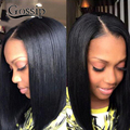 Peruvian Virign Hair Straight Full Lace Human Hair Short Bob Lace Front Wigs For Black Women 7A Full Lace Wigs With Baby Hair