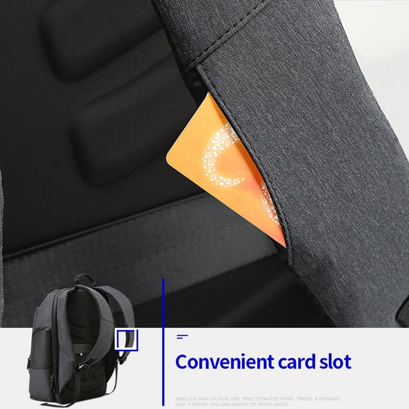 Bopai marca mochila de viagem dos homens alta capacidade multifuncional carregamento usb para 17 polegada portátil mochila anti roubo negócios - 5