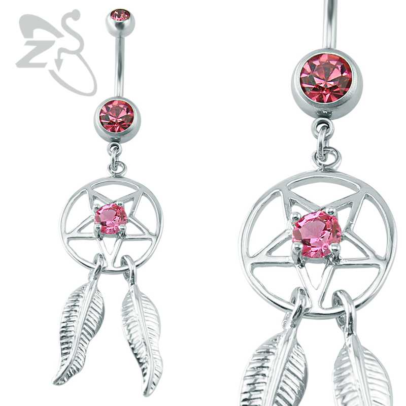 Aliexpress.com : Buy Pink Crystal Navel & Bell Button