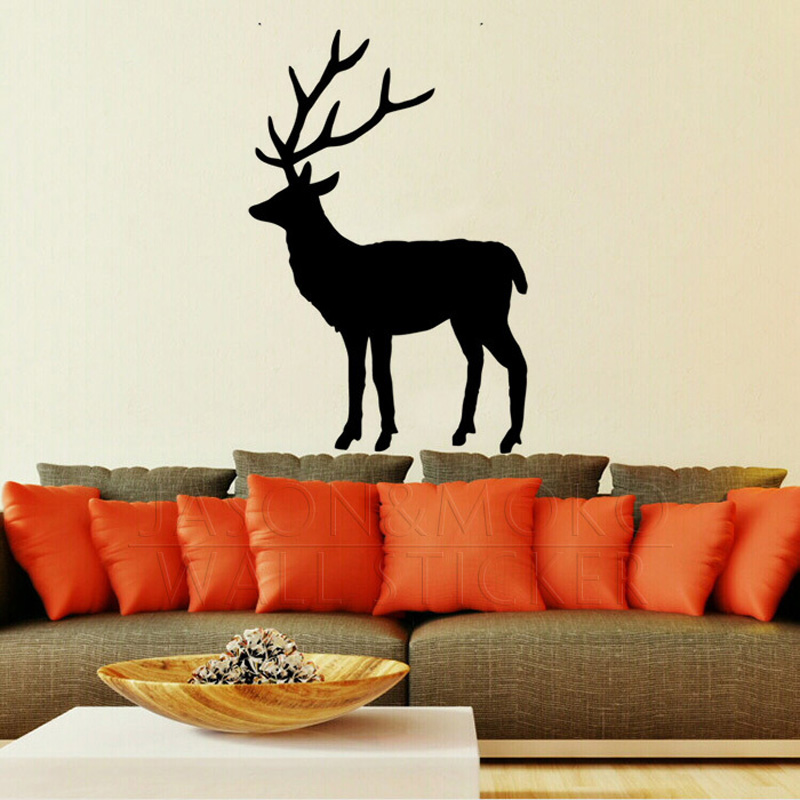 Animal Wall Art online shop elk stag deer animal wall sticker decal wallpaper