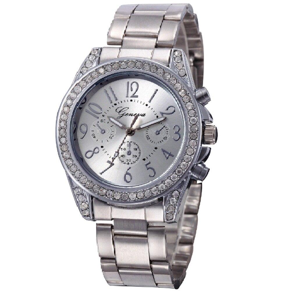 Top Quality Women Diamond Watch Metal Band Analog Quartz Fashion Wrist Watch Luxury Brand Casual Wristwatches Montre femme #p293
