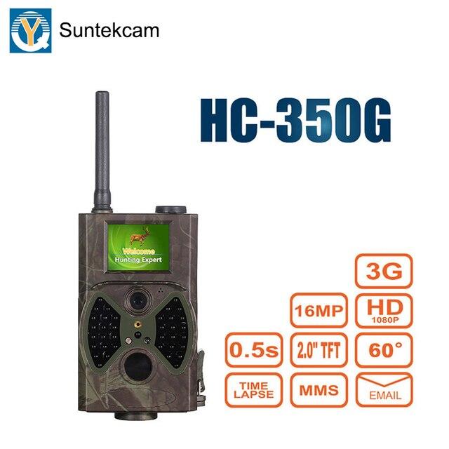 Suntekcam HC350G 3G Macchina Fotografica Della Traccia di Caccia Della Macchina Fotografica di Visione Notturna Foto Trappole Foresta Videocamera Animale Gioco Telecamere MMS 16MP 1080 P