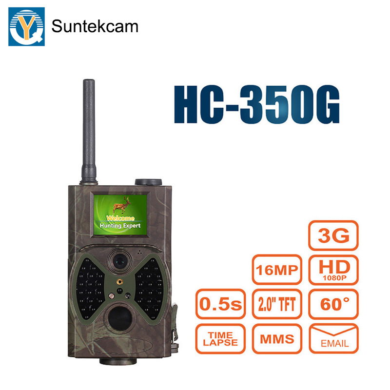Suntekcam HC350G 3G Trail Camera Hunting Camera Night Vision Photo Traps Forest Camcorder Animal Game Cameras MMS 16MP 1080P-in Hunting Cameras from Sports & Entertainment