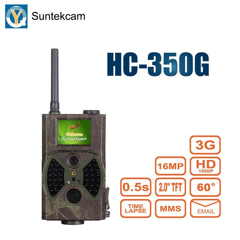 Suntekcam HC350G 3G caméra de chasse caméra de chasse Vision nocturne Photo pièges forêt caméscope animaux jeux caméras MMS 16MP 1080 P