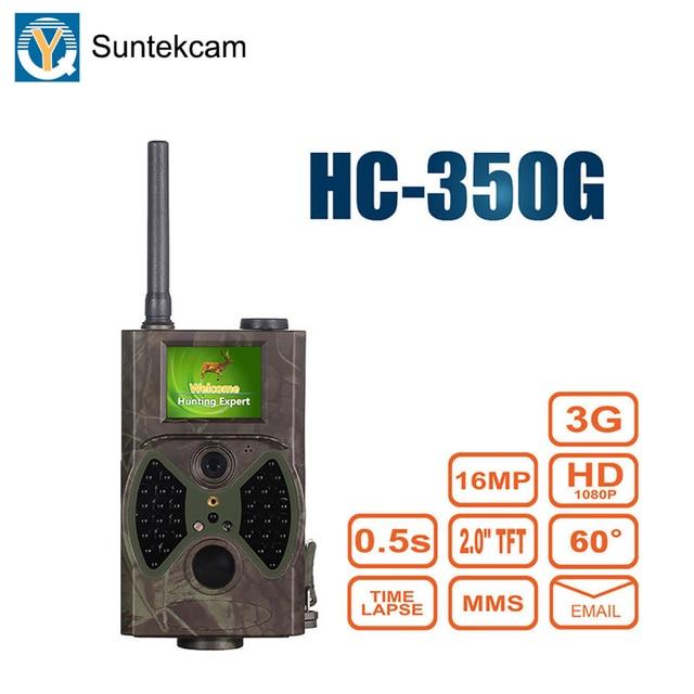 Suntekcam hc350g 3g 트레일 카메라 사냥 카메라 나이트 비전 사진 트랩 포레스트 캠코더 동물 게임 카메라 mms 16mp 1080 p