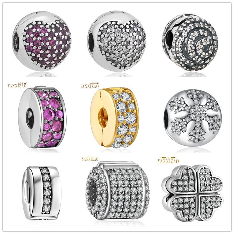 ζεστό ασημένια ευρωπαϊκά CZ Χάντρες - Κοσμήματα μόδας