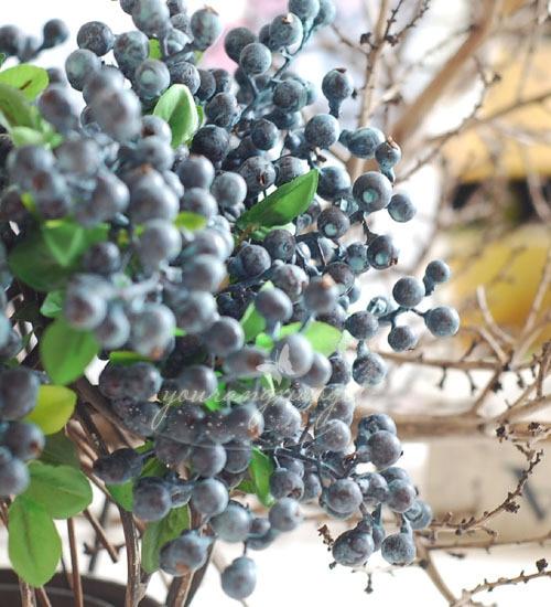 vruća prodaja dekorativni borovnica voće bobica umjetni cvijet - Za blagdane i zabave - Foto 1