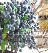 hot sale decorative Blueberry fruit berry artificial flower silk flowers fruits for wedding home decoration plants