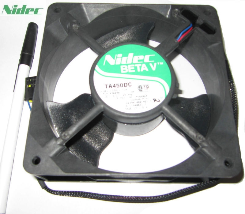 Nidec TA450DC C33211-71A 12038 1238 12CM 120*120*38MM 12V 0.49A DC Server Cooling Fan nidec d12e 12ps2 01b 12038 120mm 12cm dc 12v 1 70a 12 cooling fan server inverter case cooler