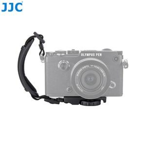 Image 4 - JJC skórzany pasek na rękę DSLR pasek w stylu vintage lustra uchwyt do aparatu na rękę szybki montaż dla NIKON D80 D300 D5200 i aparaty systemowe CANON EOS 450D