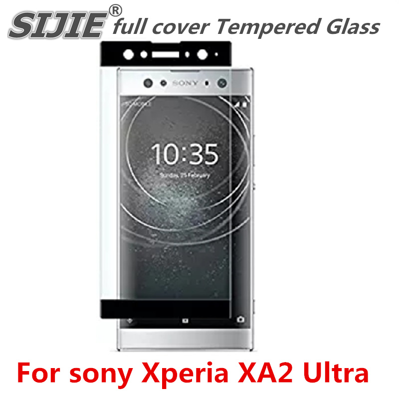 full cover Tempered Glass For sony Xperia XA2 Ultra Dual Suitable smartphone Screen protective toughened fit on case friendly in Phone Screen Protectors from Cellphones Telecommunications