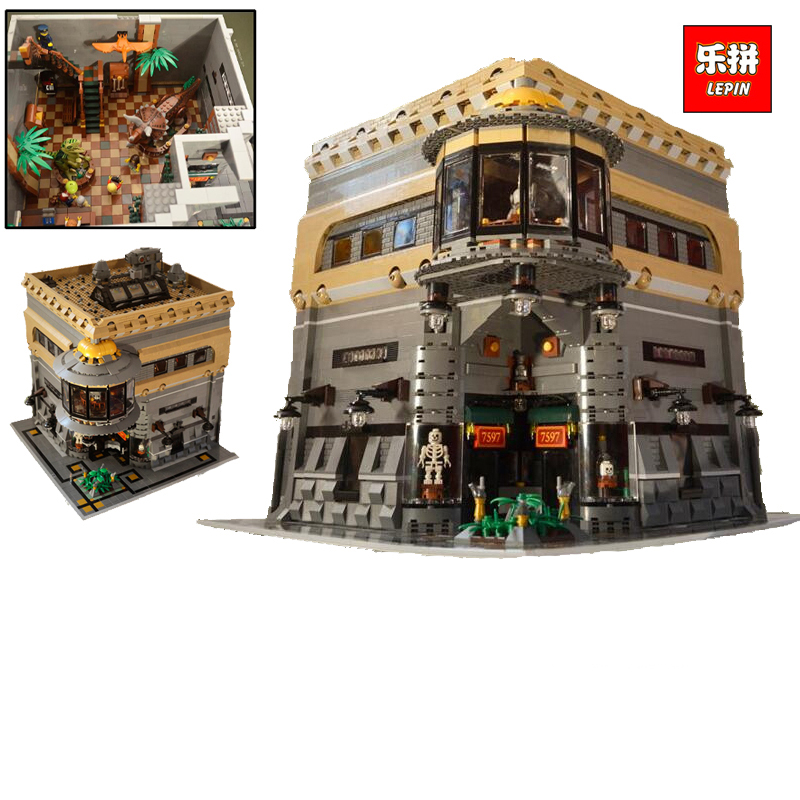 LEPIN 15015 5003pcs City The dinosaur museum Model Building Kits Brick Funny Toy Compatible lepin 15015 5003pcs street view series dinosaur museum model building blocks set bricks toys for children wange gift