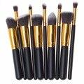 Alta Qualidade 10 pçs/set Pro Pincéis de Maquiagem Beleza Cosméticos Fundação Mistura de Blush Make up Brush tool Kit Set