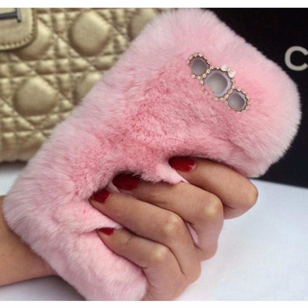 Precise Mirror Fuzzy Ball Case For Samsung J1 J2 J5 J7 J3 A3 A5 A7 2015 A8 Note 7 Soft Rabbit Fur Pompom Fluffy Mirror Phone Back Case Cellphones & Telecommunications Phone Bags & Cases