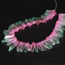 Новинка! Бусины из титана в розовом и зеленом цвете 155 дюйма/нить