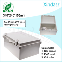 XD F53 340 240 155mm Hinged Plastic Enclosures Industrial Plastic Enclosures Ip67 Plastic Enclosures