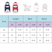 3XL 4XL 5XLReflective Strip Big Dog Raincoat  Hooded Pet Coats Jacket Dog Clothes Outdoor Rain Coat Waterproof Pet Clothing Dog