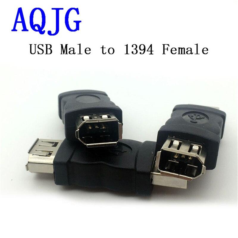 Neue Firewire Ieee 1394 6 Pin Weibliche Zu Usb 2.0 Typ A Stecker Adapter Adapter Kameras Handys Mp3 Player Pdas Schwarz Großhandel Hohe QualitäT Und Preiswert Unterhaltungselektronik