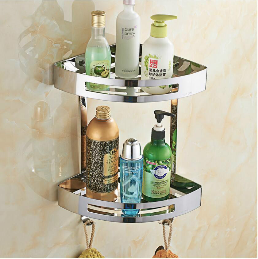 Factory Direct Sales 304 Stainless Steel Triangular Basket Double Bathroom Storage Rack Chrome Finish Corner Rack m75 750kgs pulley 304 stainless steel roller crown block lifting pulley factory direct sales all kinds of driving pulley