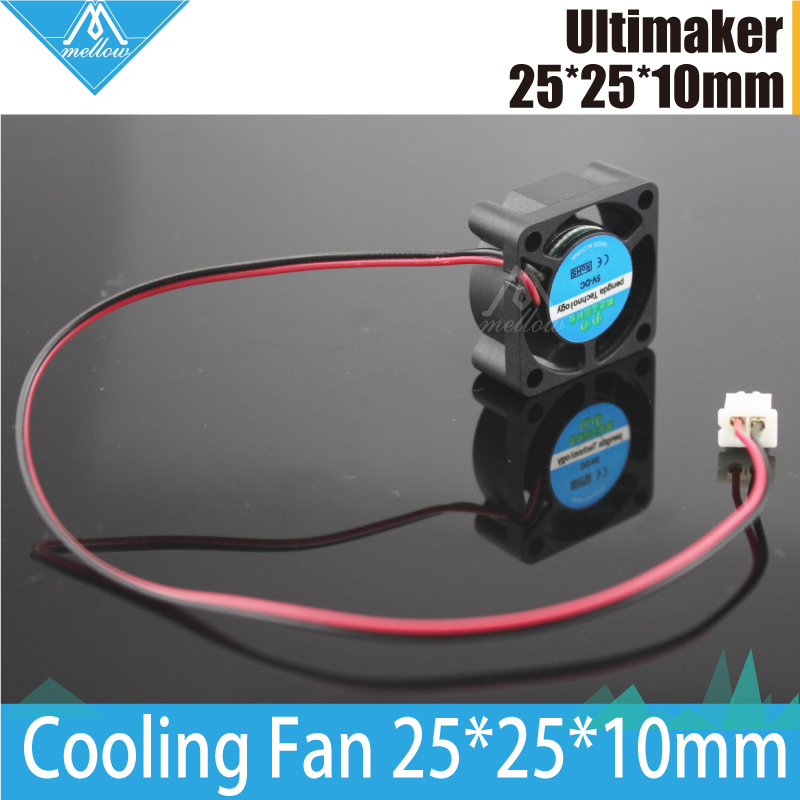 3d Printer 25*25*10mm 2510 Fan Cool Extruder Small Fan 2-wire 12V/24 For Ultimaker 2 + UM2 Extended+ Olsson Block Kit/Makerbot