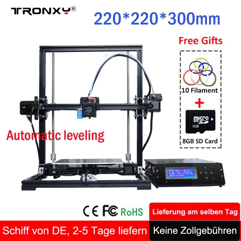 Tronxy Education 3d printer DIY kit High Precision Stable aluminium profile 220*220*300 tronxy diy 3d printer With auto leveling все цены
