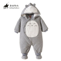 My Neighbor Totoro Newborn Baby Cotton Thick Hooded Clothes Winter Cosplay Totoro Romper 121505
