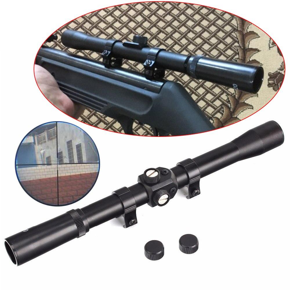 4x20 Crossbow Hunting Riflescopes Sight Tactical Optics Airsoft Air Guns Scopes Sniper Reticle Pistol Sight Red Dot Laser Sight