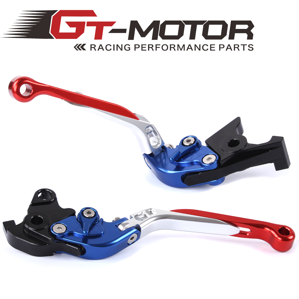 GT Motor - F-18/H-33 Adjustable CNC 3D Extendable Folding Brake Clutch Levers For Honda CBF1000/A 2010-2013  CB 1300/ABS gt motor f 16 dc 80 adjustable cnc 3d extendable folding brake clutch levers for moto guzzi breva 1100 norge 1200 gt8v