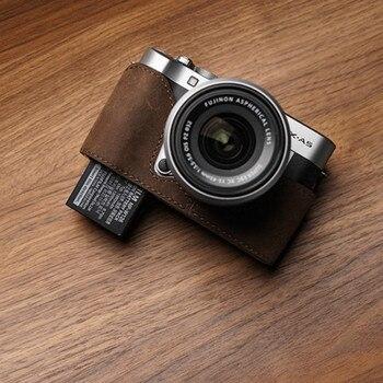 Mr.stone Brand Camera Case For Fujifilm XA5 FUJI X-A5  Genuine Leather Half Body Handmade Bottom Cover