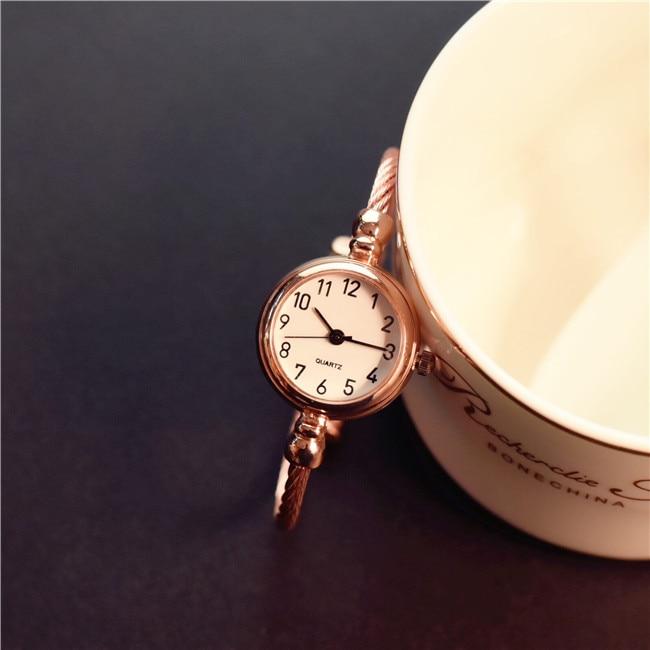 Fashion Retro Quartz Watch Women Dress Bracelet Watch Leisure Clock Lady Relogio Feminino Gift erkek kol saati bayan kol saati(China)